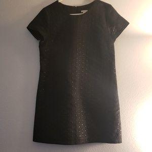 Black on Black polka dotted dress